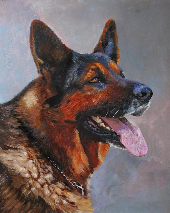 German Shepard Dog Painting